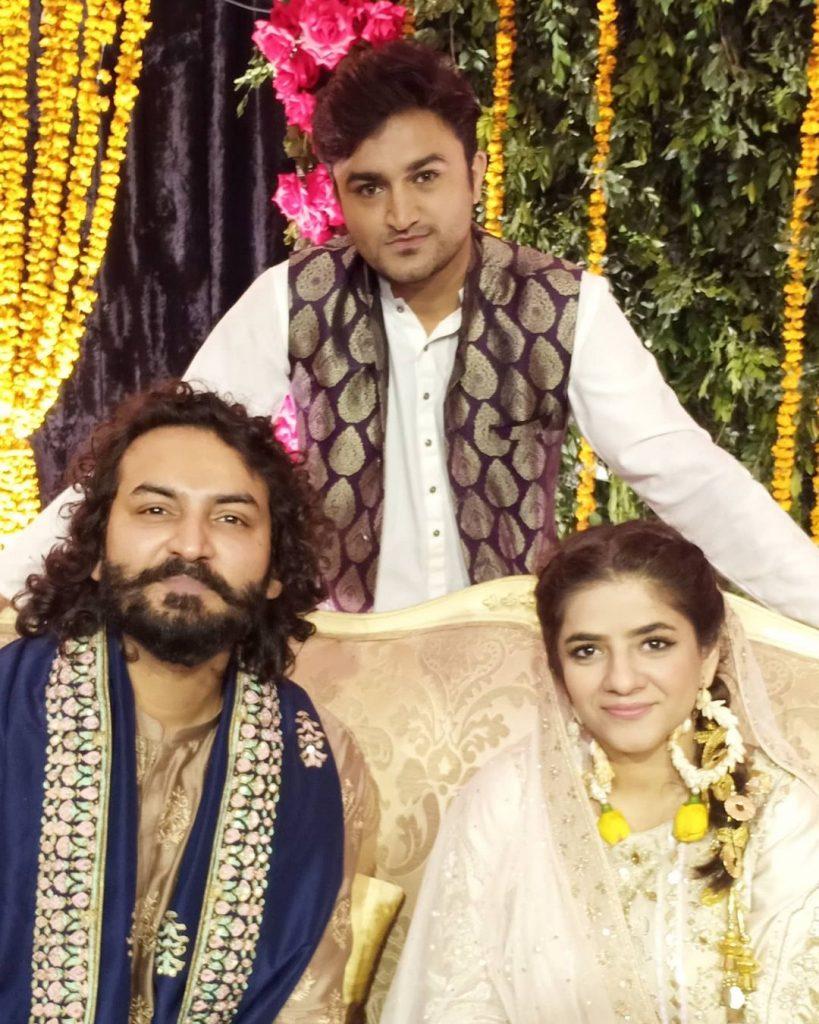 Qasim Ali Mureed And Sadia Jabbar's Mehndi Pictures