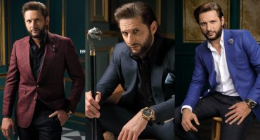 Shahid Afridi Poses In Shoot For A Clothing Brand