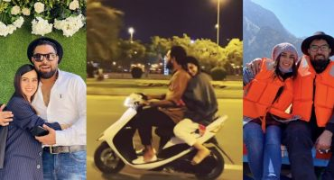 Yasir Hussain And Iqra Aziz Enjoying Bike Ride