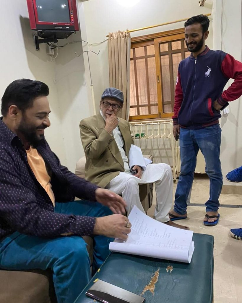 BTS Video From The Set Of Aamir Liaquat Hussain's Debut Telefilm