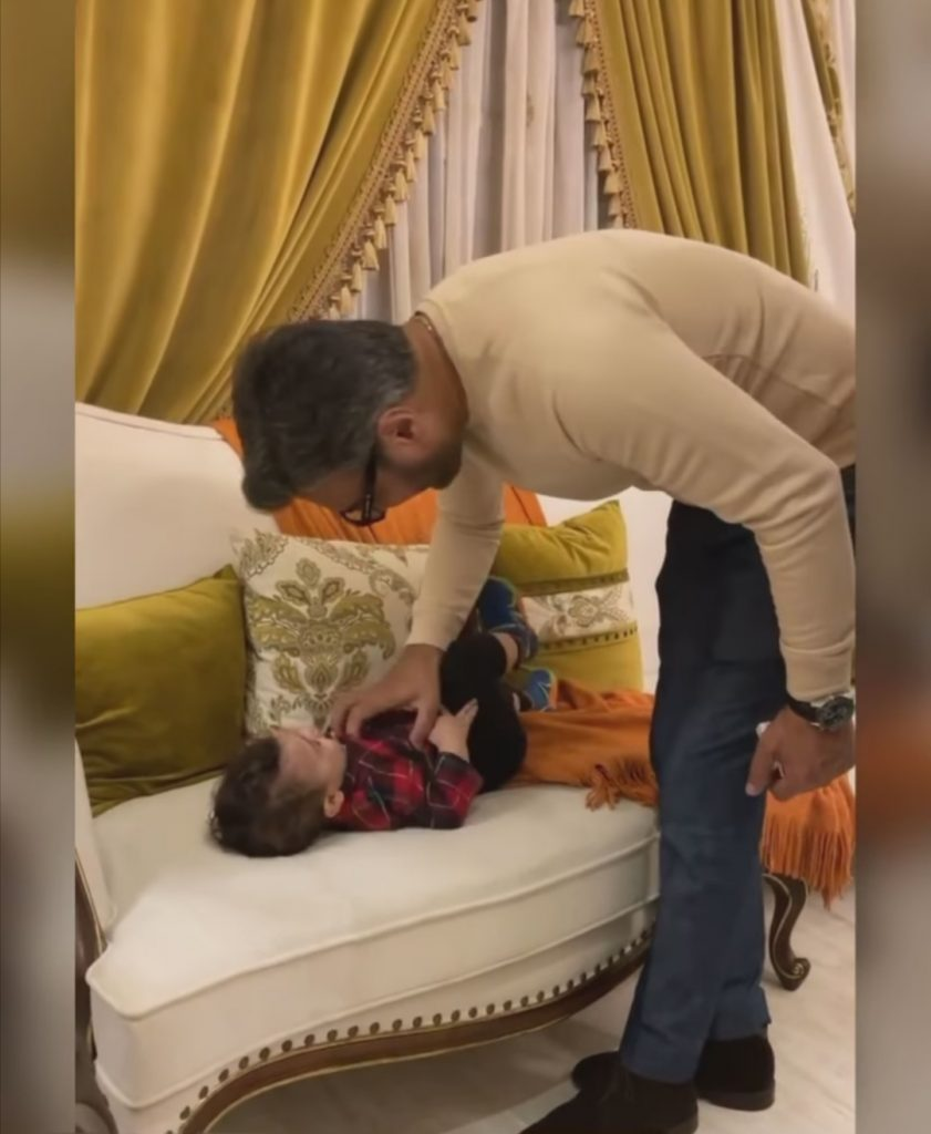 Adorable Video Of Adnan Siddiqui Playing With Faysal Qureshi's Son