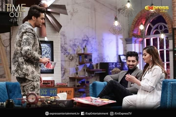 Aiman Khan Muneeb Butt Dance In Timeout With Ahsan Khan