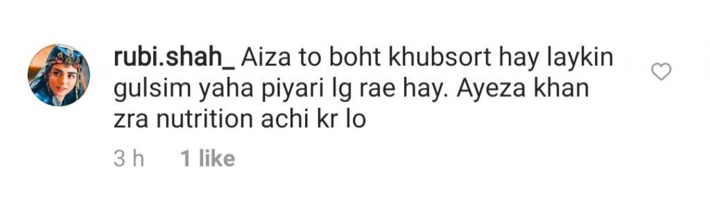 People Comparing Ayeza Khan With Gulsim Ali