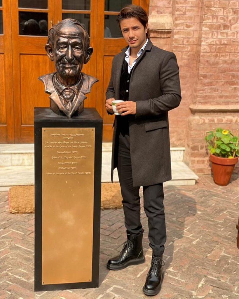 Ali Zafar Contributes A Sculpture At Aitchison College Lahore