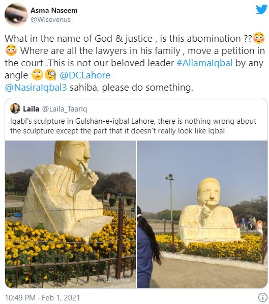 New Sculpture Of Allama Iqbal Has Become A Talk Of The Town