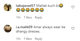 Amar Khan Receiving Criticism For Her Look At FPW
