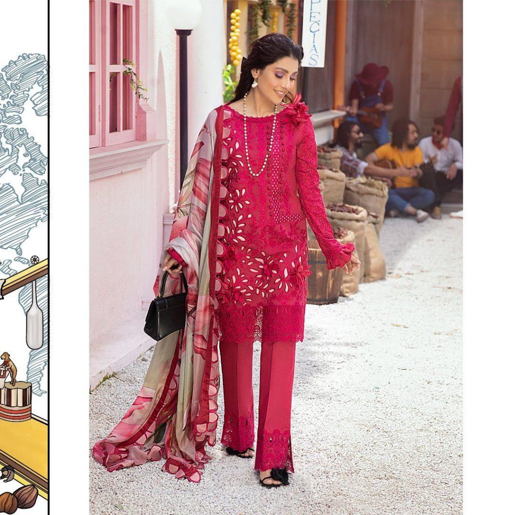Mushq Luxury Lawn Collection Ft. Ayeza Khan