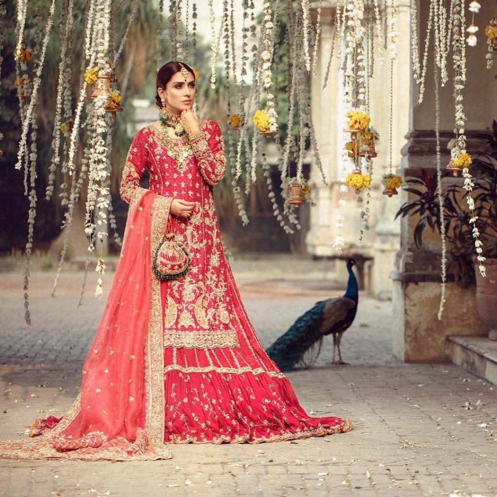 Warda Qutub Khan Latest Bridal Collection Featuring Ayeza Khan