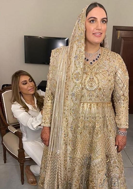 Designer Wardha Saleem Shares Details About Bakhtawar Bhutto's Bridal Dress