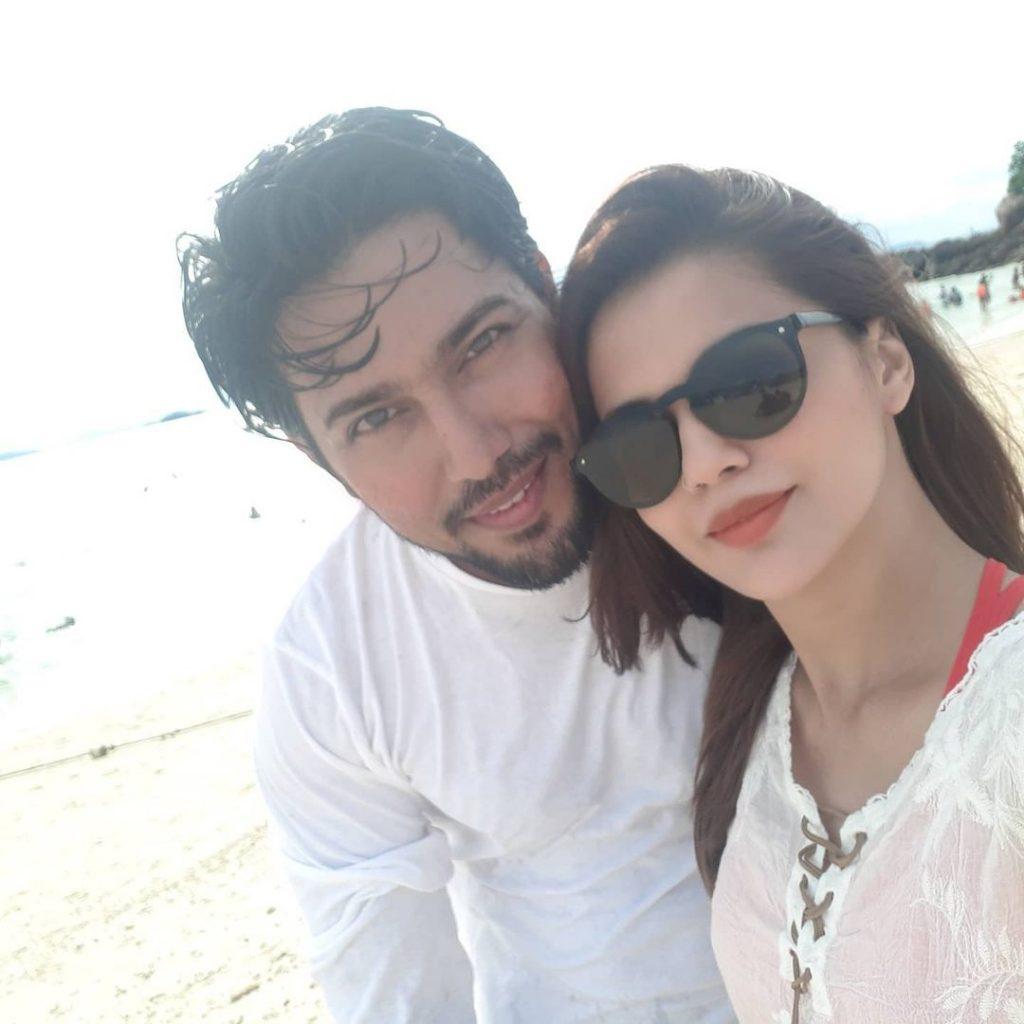 Adorable Pictures Of Celebrity Couple Faiza Ashfaq And Danish Hayat
