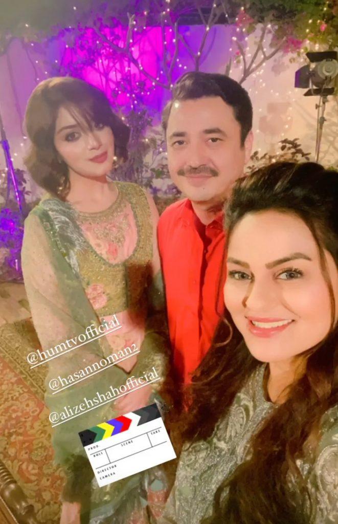 Alizeh Shah Daniyal Zafar Drama BTS Pictures