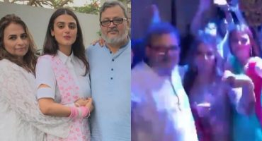 Hira Mani Dancing With Parents On A Wedding