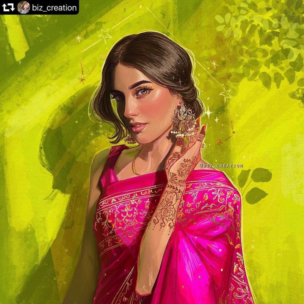 Lovely Photo Collection of Iqra Aziz In Saree