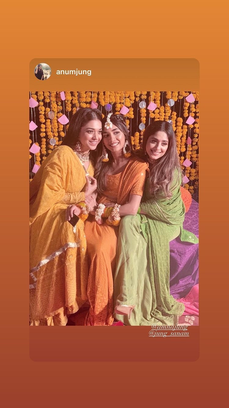 Sanam Jung Sister Amna Jung Mehndi Pictures and Video