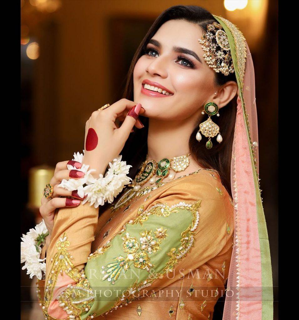Kiran Haq Looks Elegant In Simple Mehndi Attire