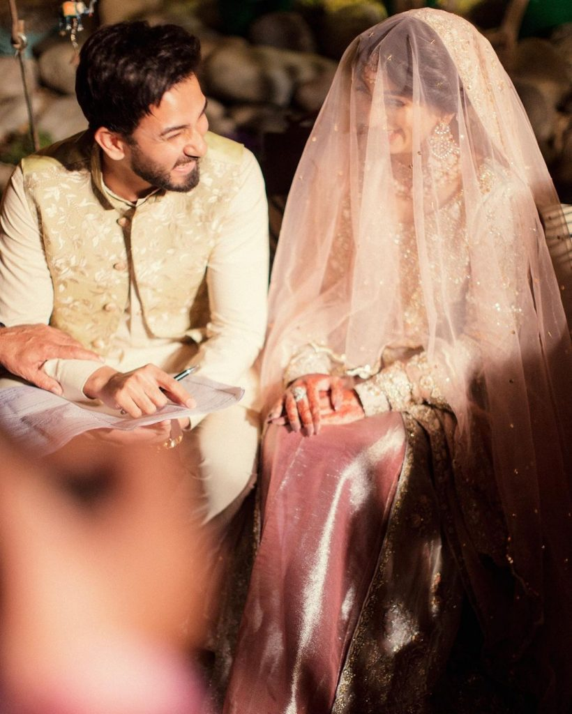 Lovely Pictures Of Mariam Ansari With Ali Ansari From Her Nikkah Event