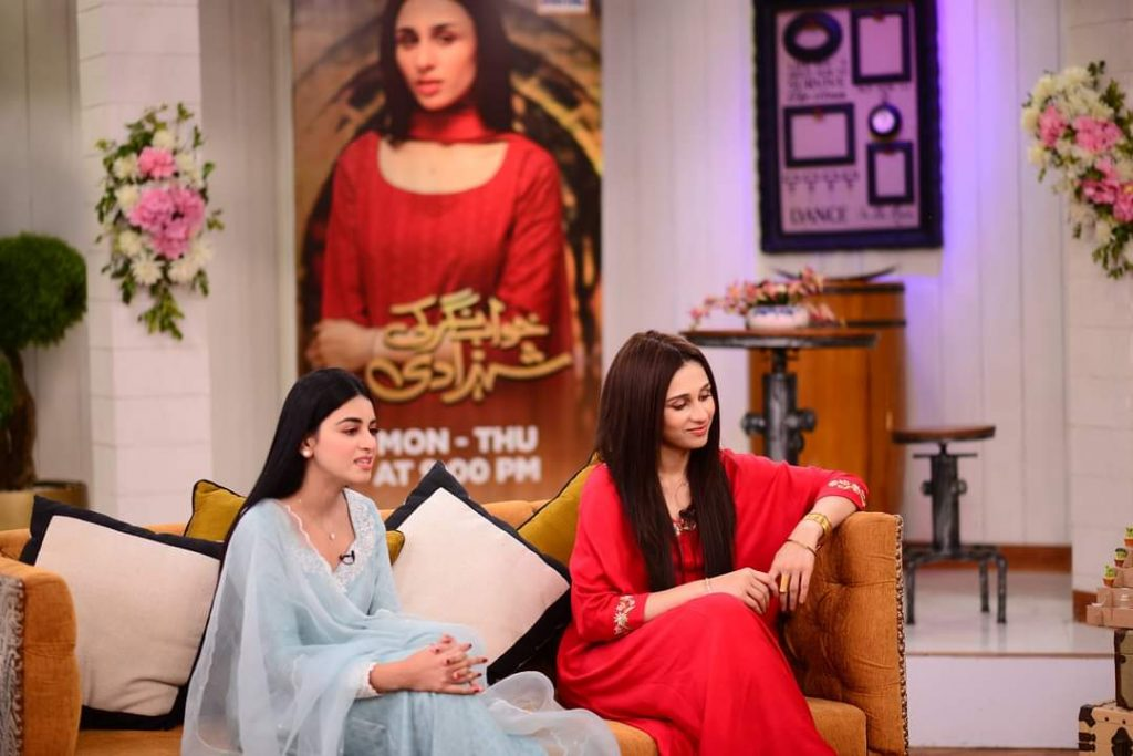 Mashal Khan and Anmol Baloch Pictures from Good Morning Pakistan