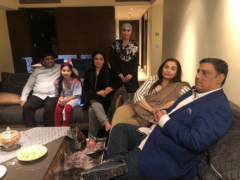 Meera Visits Friend Salma Agha in Dubai