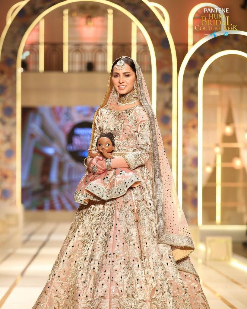 Nimra Khan Appeared As Show Stopper For Noman And Bhaiya