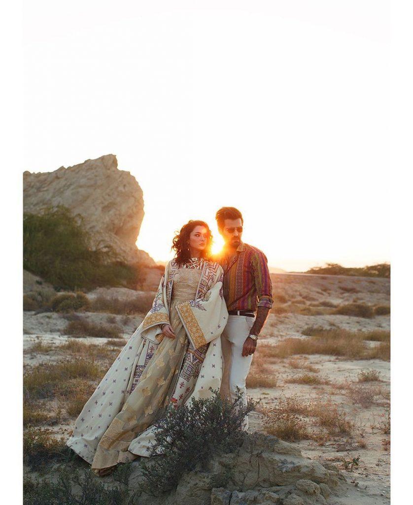 Latest Collection Of Rang Rasiya Official Featuring Hania Amir And Hasnain Lehri