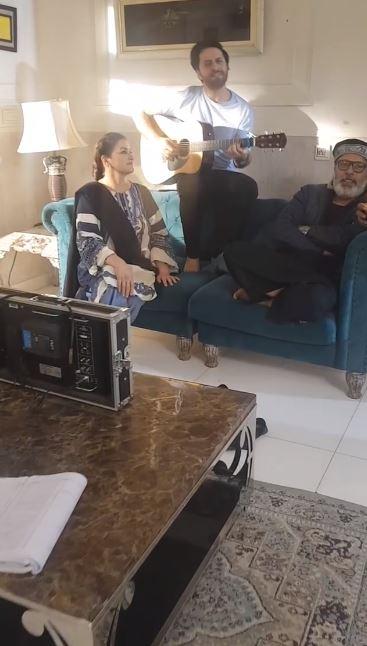Saba Faisal Shares The BTS From The Set Of Drama Serial Qayamat
