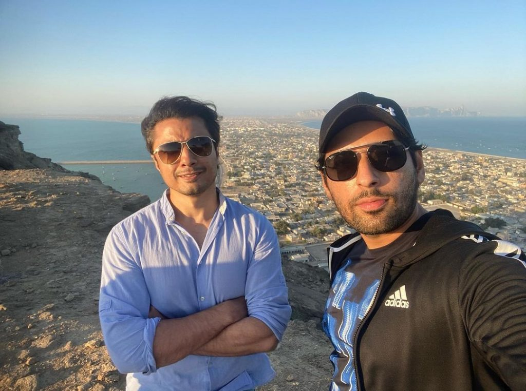 Pakistani Actors in Gwadar City For Friendly Cricket Match