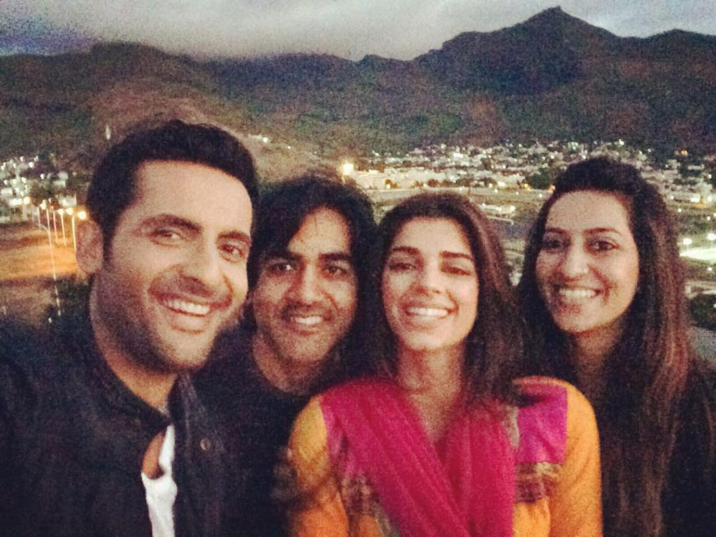 Mohib Mirza and Sanam Saeed Pictures Together