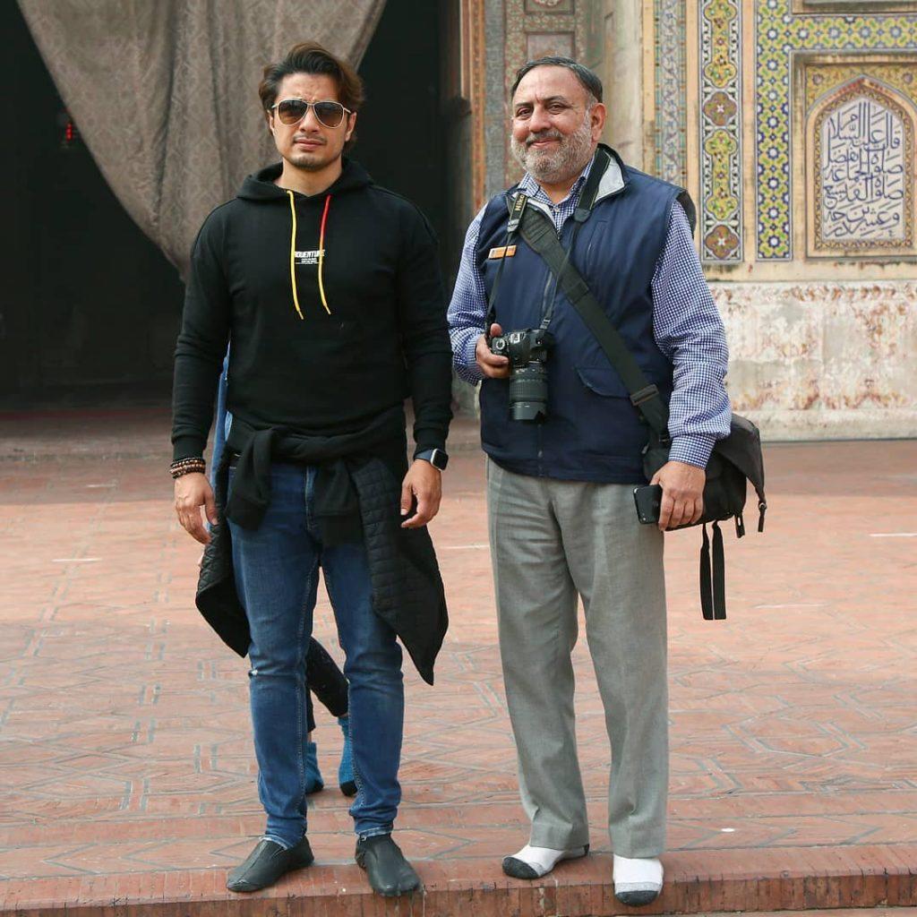 Shaan Shahid And Ali Zafar Enjoying At An Event At Walled City Lahore