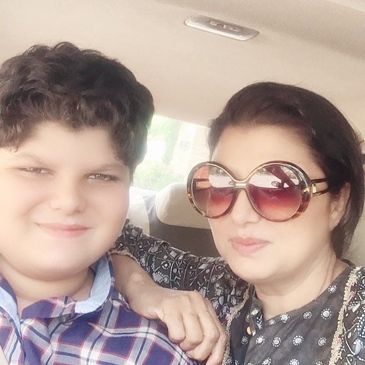 Family Pictures Of Television Actress Shaheen Khan