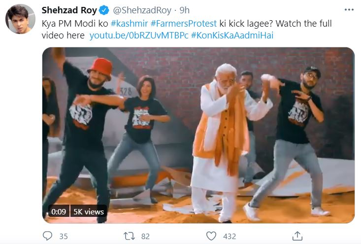 Shehzad Roy Releases A New Song Featuring Modi And Abhinandan