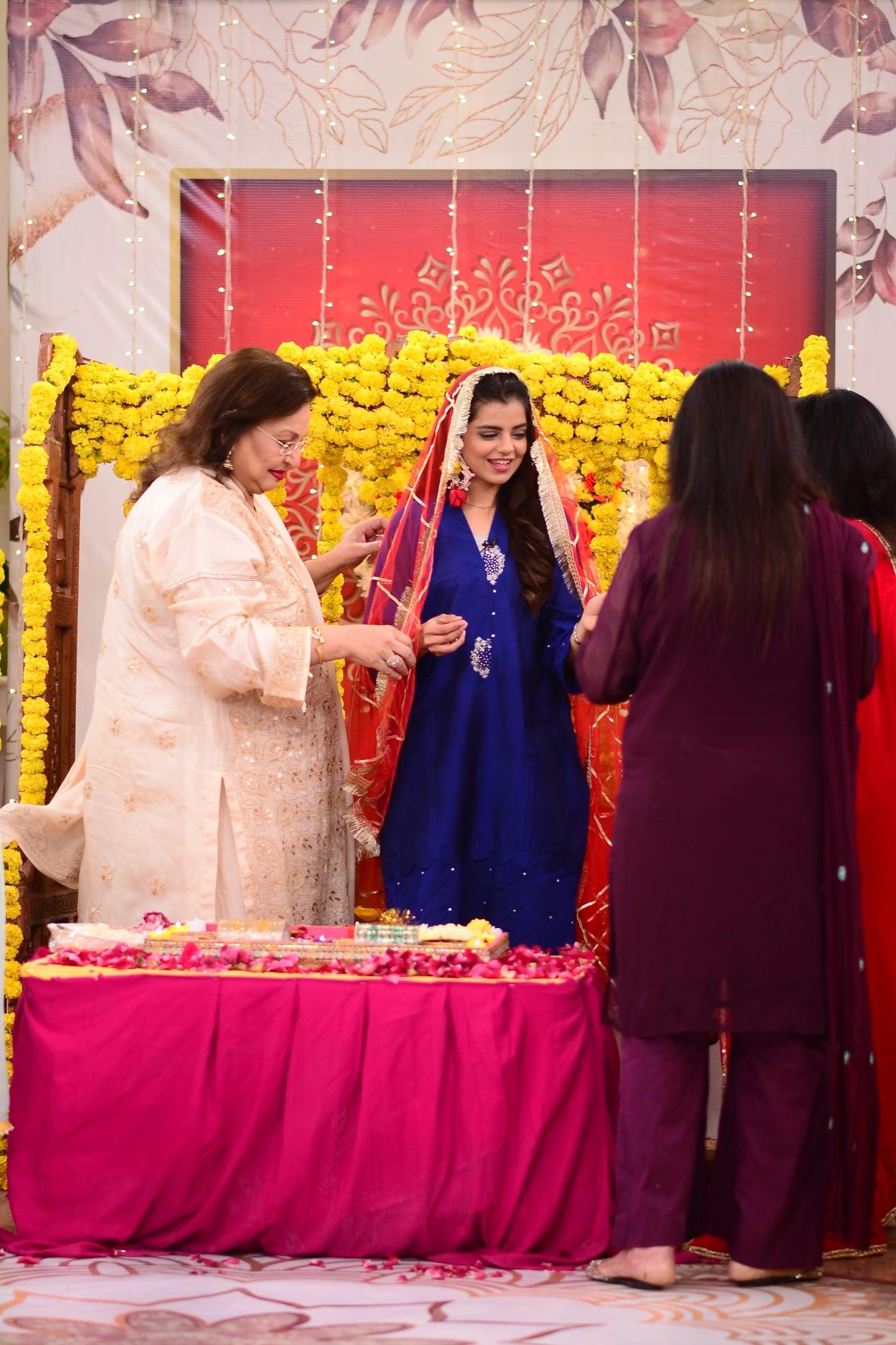 Actress Srha Asghar Dholki in Nida Yasir Morning Show