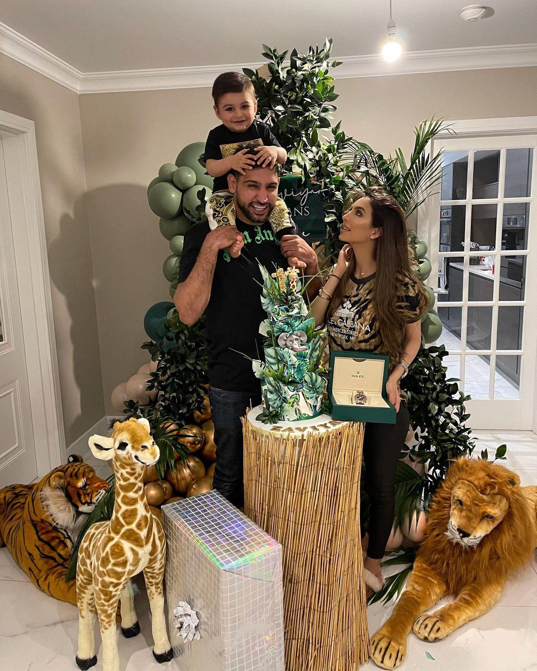 Amir Khan with Faryal Celebrated Their Son Zaviyar First Birthday