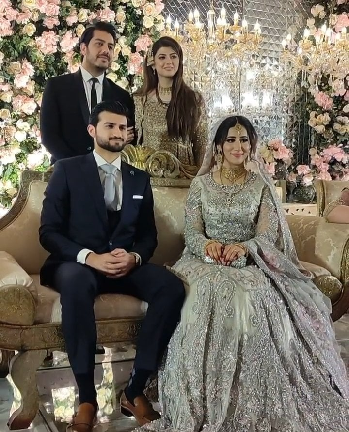 Anam Goher And Goher Mumtaz At Her Brother's Reception