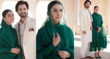 Ayeza And Danish Pose In Eastern Attire For Their Latest Project