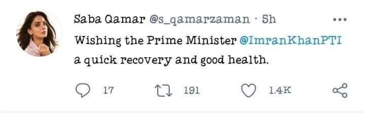 Celebrities Wish PM Imran Khan A Speedy Recovery