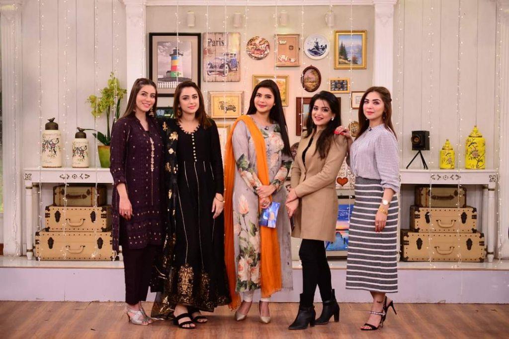 Natasha Ali Shows Her Wedding Wardrobe In Good Morning Pakistan