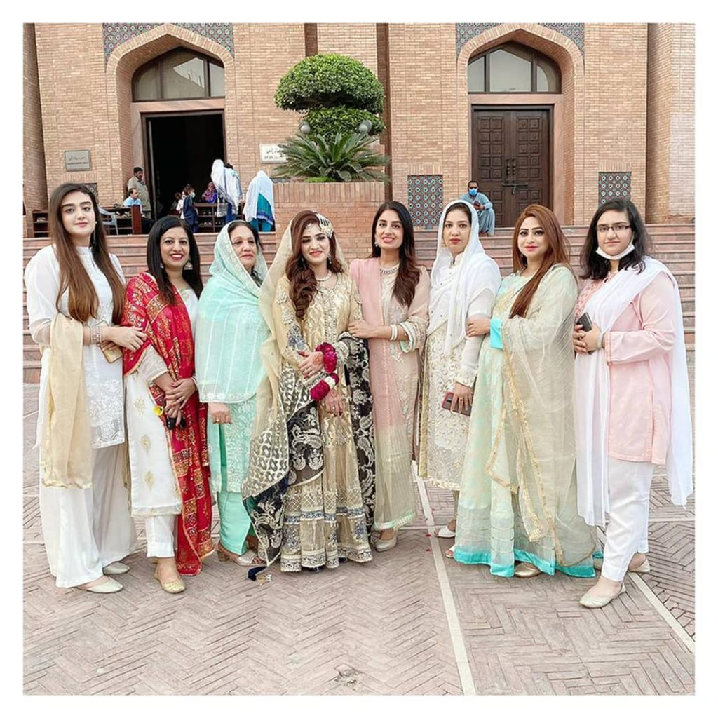 Farah Iqrar Spotted At Her Sister's Nikkah Ceremony