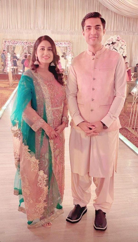 Farah Iqrar And Iqrar-ul-hassan At A Family Wedding