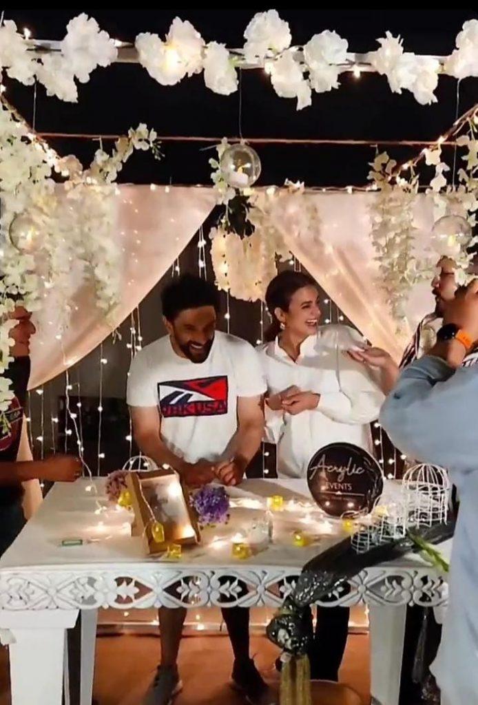Hira Mani Gave An Adorable Birthday Surprise To Her Husband Mani