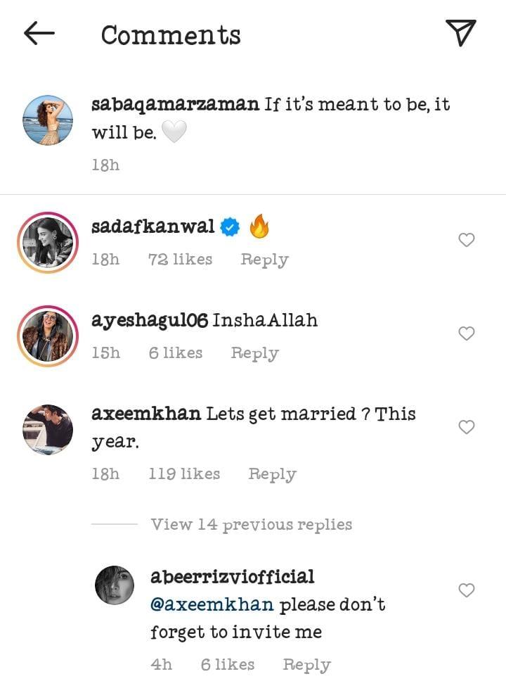 Is Saba Qamar Hinting Towards Getting Married