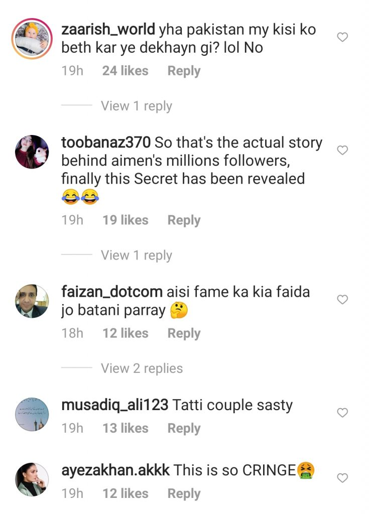Netizens Criticised Aiman and Muneeb on Recent Viral Video