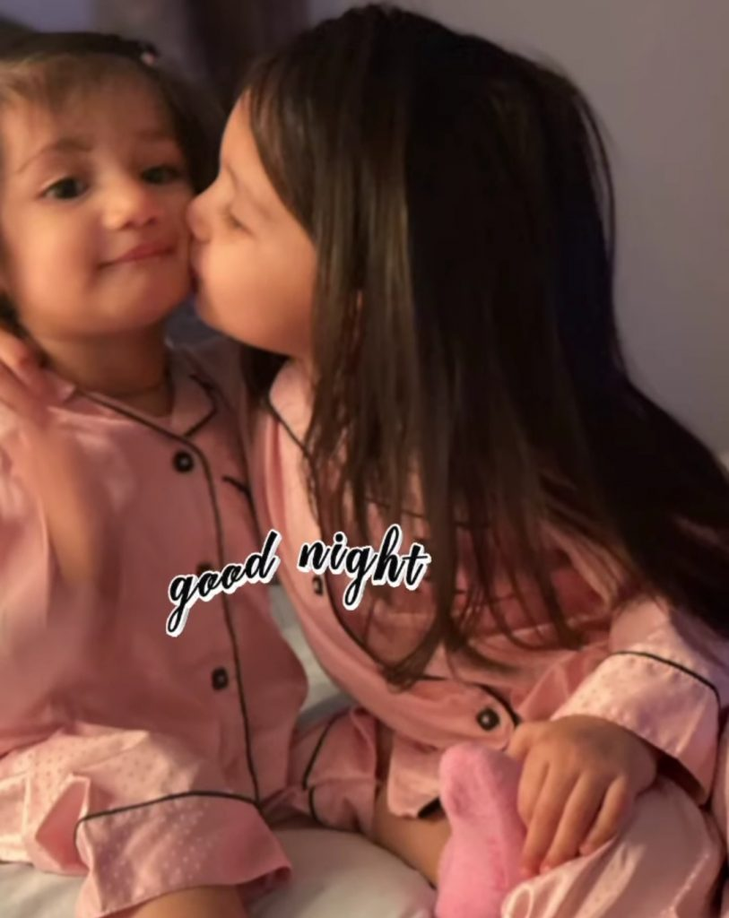Sidra Batool Pictures With Her Daughters