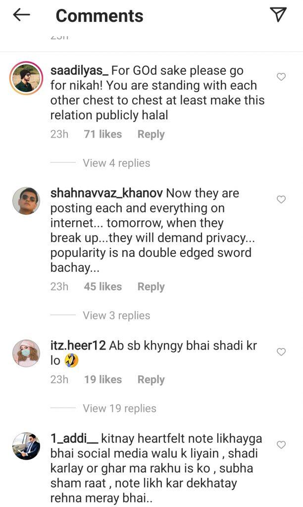 Netizens School Love Birds Minal Khan and Ahsan Mohsin Ikram