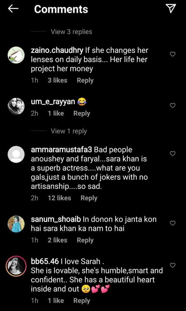 Netizens Think That Faryal Mehmood Has Taunted Sarah Khan