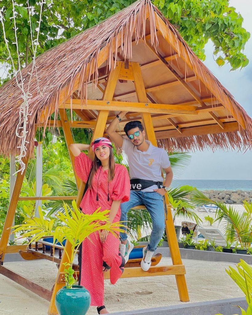 TikTok Star Zulqarnain Sikandar And Kanwal Aftab Vacationing in Maldives