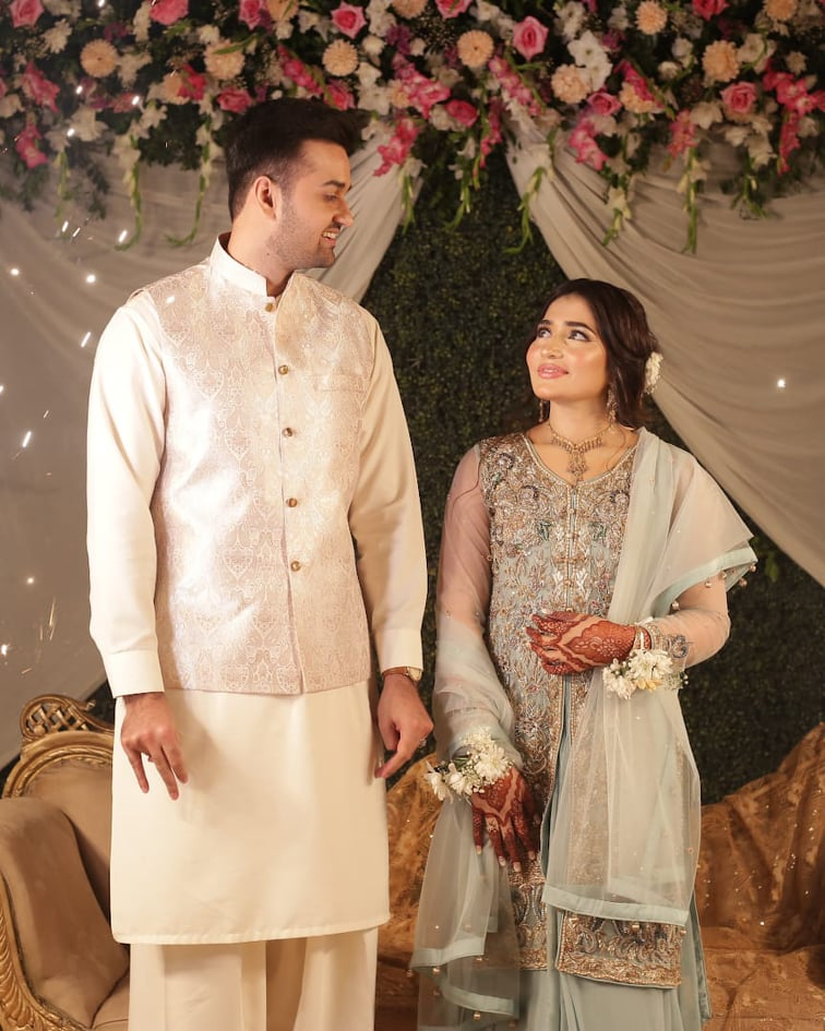 Junaid Jamshed Younger Brother Maaz Jamshed Engagement Pictures