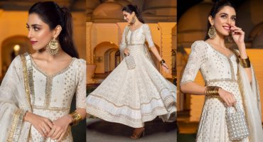 Maya Ali Flaunting Beautiful White Pishwas At A Wedding