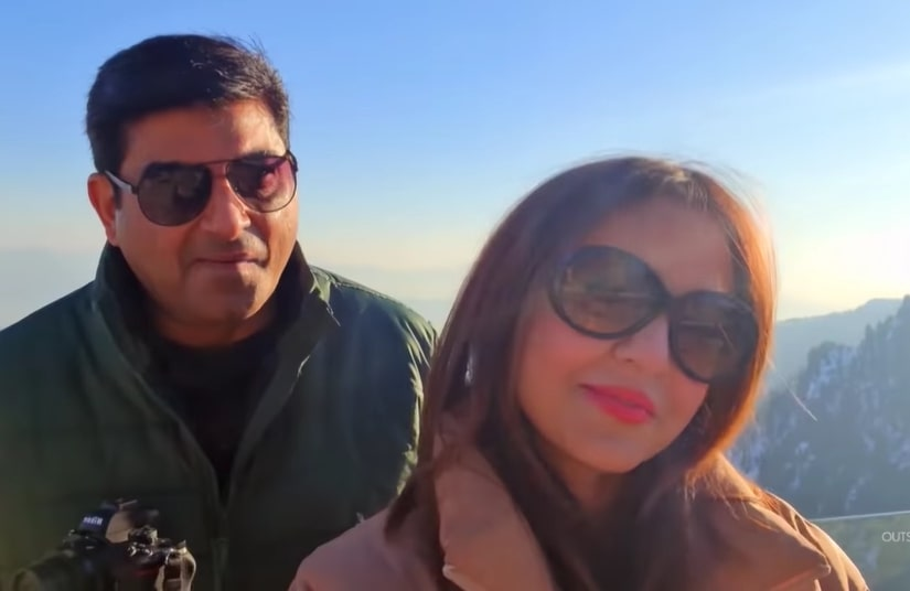 Nadia Khan with her Husband at Malam Jabba