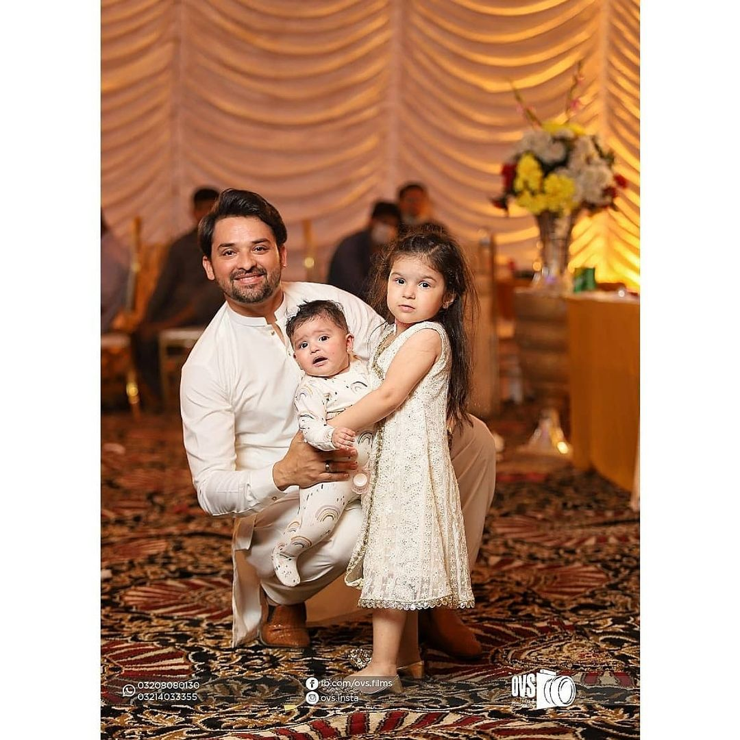 Actor Noman Habib with his Beautiful family at a Recent Wedding