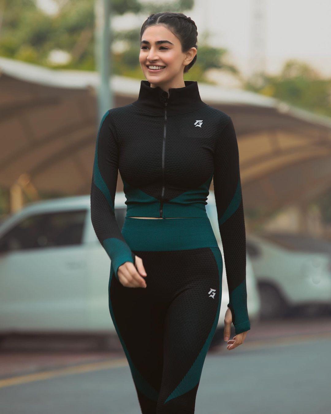 Actress and Model Saheefa Jabbar Clicks in Gym Wear